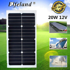 20W 12V Mono Semi-flexible Solar Panel For RV Boat Caravan Battery Charger