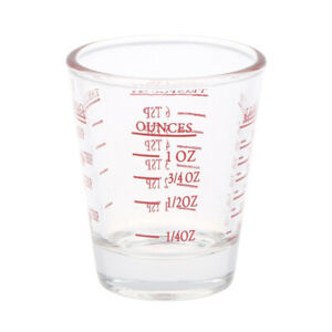 1Pc 50/100 ML Glass Measuring Cup With Scale Shot Glass Liquid Glass Ounce  Kd