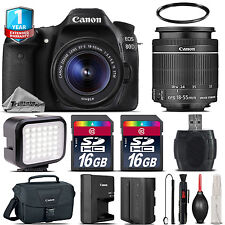 Canon EOS 80D DSLR Camera + 18-55mm + LED + Extra Battery + 32GB + 1yr Warranty