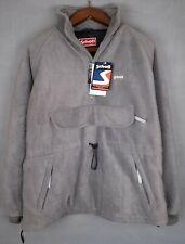 BNWT Men's Large SCHOTT NYC Grey Fleece Heavy Duty Bomber Jacket / Coat RRP£150