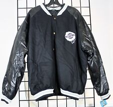Vintage Chrysler Jacket Fleece/Leather XXL Men's Racing