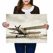 A2 - Old Airplane Vintage Aviation Plane Poster 59.4X42cm280gsm #21954