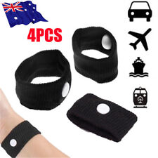 4PCS Anti Nausea Wristbands Travel Sick Bands Motion Sea Plane Car Sickness NEW