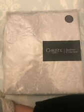 BRAND NEW CHRISTY ISABELLE SINGLE SILVER DUVET SET WITH ONE PILLOWCASE