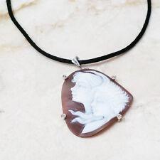 AMEDEO Un'Incontro Sardonyx Carved Faces Pendant Silk Cord HSN $399 Sold Out!