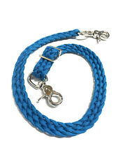 paracord tack caribbean blue Braided Wither Strap For Breast Collar FREE SHIP