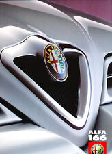 1999 Alfa Romeo 164-like 166 24-page UK Original Car Sales Brochure Catalog