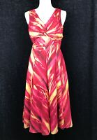 JONES NEW YORK Spice Red  Sleeveless A- Line Dress Size 6