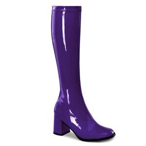 Funtasma GOGO-300 Women's Purple Patent  Costume Knee High Boots