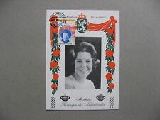 NETHERLANDS, maximumcard maxi card 1980, coronation Queen Beatrix, royalty
