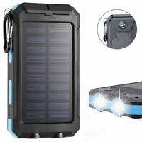 Waterproof 2000000mAh 2 USB Portable Solar Battery Charger Solar Power Bank KB