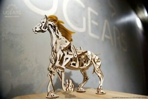 UGears NEW MODEL mechanical wooden 3D puzzle - HORSE