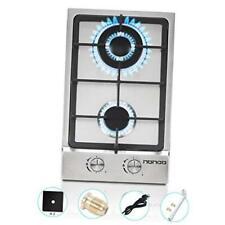 New listing In Gas Cooktop High Gas Stove Gas Hob Stove Top Rv Stove 2 Burners 12 Silver-1
