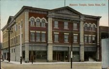 Santa Rosa CA Masonic Temple c1910 Postcard