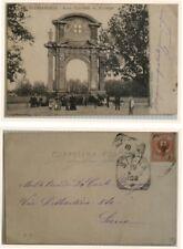 Alessandria Arco Trionfale di Marengo MOLTO  ANIMATA F/P VIAGG. nel 1903 vedi..