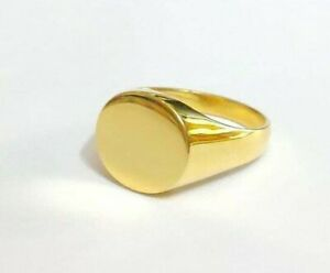 Yellow 18K Gold Ring Signet Ring 18K Yellow Gold Ring Men Signet Ring Pinky Ring