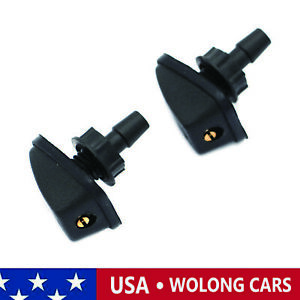 2X Front Windshield Wiper Spray Washer Nozzle Fit for Volvo S40 S70 S80 C70 XC90