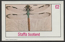 GB Locals - STAFFA (2292 - 1982 insectes Imperf Deluxe feuille U / M