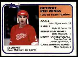 1981-82 TOPPS HOCKEY SET BREAK DALE MCCOURT DETROIT RED WINGS #51