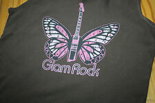 Hank made in Hollywood cotton vest Glam Rock size Small crystals butterfly