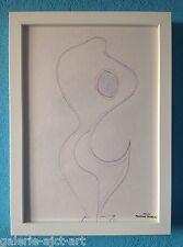 Raymond TRAMEAU Dessin 1960 Cadre Blanc Modigliani Érotique Nue Arp Organique
