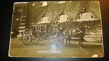 "Antique "" STATE LANDAU "" RPPC  Post Card Appr.1905-14"