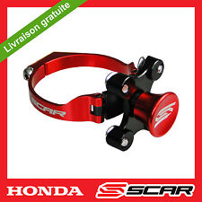 KIT DEPART HOLESHOT BLOQUE FOURCHE HONDA CR CRF 250 450 CRF250R ROUGE SCAR