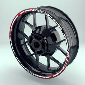 Felgenrandaufklebe Felgenaufkleber 10mm Motorrad Auto BridgestoneV1 viele Farben