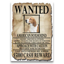 American Foxhound Wanted Poster Fridge Magnet New Dog