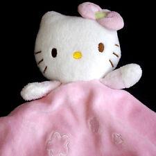 Peluche Doudou chat (cat) ❤ HELLO KITTY ❤ couleur rose et blanc - SANRIO