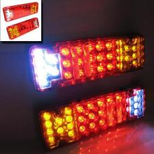 12v Led Rear Tail Lights Truck Lorry Trailer Tipper Van Caravan Chassis Set