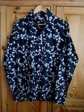 PAUL SMITH Jeans SHIRT Mens Size M, Navy Blue Floral Print L/S Button Cuff