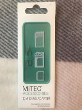 New MiTEC Sim Card Adapter Compatible All Mobiles