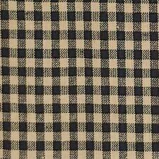 Black Homespun 100% Cotton Fabric Check 6139 Black Natural BY THE YARD Free Ship
