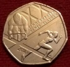 ** GLASGOW 2014 ** Scottish / Scotland Commonwealth Games 50p fifty pence coin