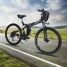 Red 21-Speed E-bike 26'' City Mountain Bicycles Folding Electric Bike 350W USA
