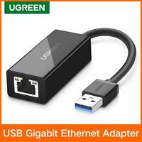Ugreen USB 3.0 vers RJ45 Réseau Adaptateur Lan câble Gigabit Ethernet 1000Mbps