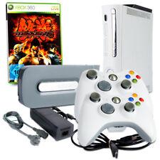 Xbox 360 Console Blanc #1A + 60 Jaune + HDMI + 2 Contrôleur Blanc + Jeu Tekken 6