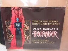 Hellraiser ~ Mirror Sided Poster ~ 24X18.25in ~ Clive Barker Epic Comics 1991