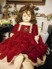 "25"" ""Effanbee composition and cloth ""Rosemary"" Walk-Talk_Sleep doll from 1920's"