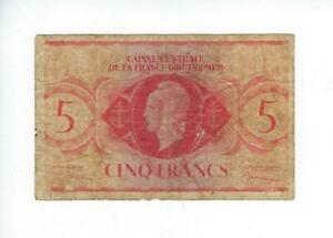 FRENCH EQUATORIAL AFRICA  5 FRANCS  WW2 ISSUE   VG   SEE SCAN