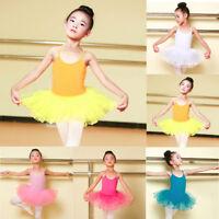 Infant Kids Girls Ballet Dress Tutu Leotard Dancewear Strap Outfits