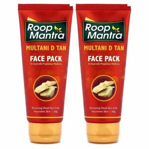 Roop Mantra Multani D Tan Face Pack 60g (Pack of 2) | Fast Ship From India |-USA