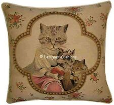 Susan Herbert Framed Family of Cats Tapestry Cushion Cover Sham
