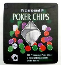 PROFESSIONAL POKER CHIPS FINE GIFT PLAYING CARDS DECK