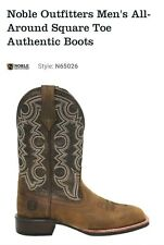 NIB NEW Noble Outfitters Authentic Square Toe Cowboy Boot In Oiled Tan 9.5 Wide