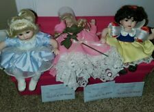 "Marie Osmond Disney"" Tiny Tot Trio"" original box necklaces and Coa."