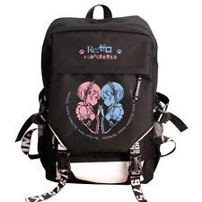 Anime Re:Zero Rem/Ram Backpack Student School Bag Harajuku Satchel Shoulder Bag