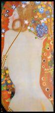 Gustav Klimt Sea Serpents IV Poster Kunstdruck im Alu Rahmen in schwarz 100x50cm