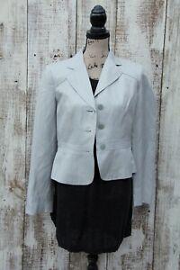 ANN TAYLOR LOFT Women's Sz 6 NEW Light Gray Silk/Linen Blazer